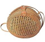 Rattan Nation Handwoven Round Net Rattan Bag, Straw Bag
