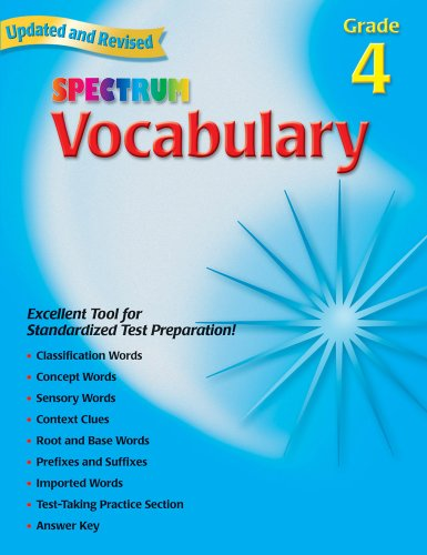 Spectrum Vocabulary, Grade 4 -