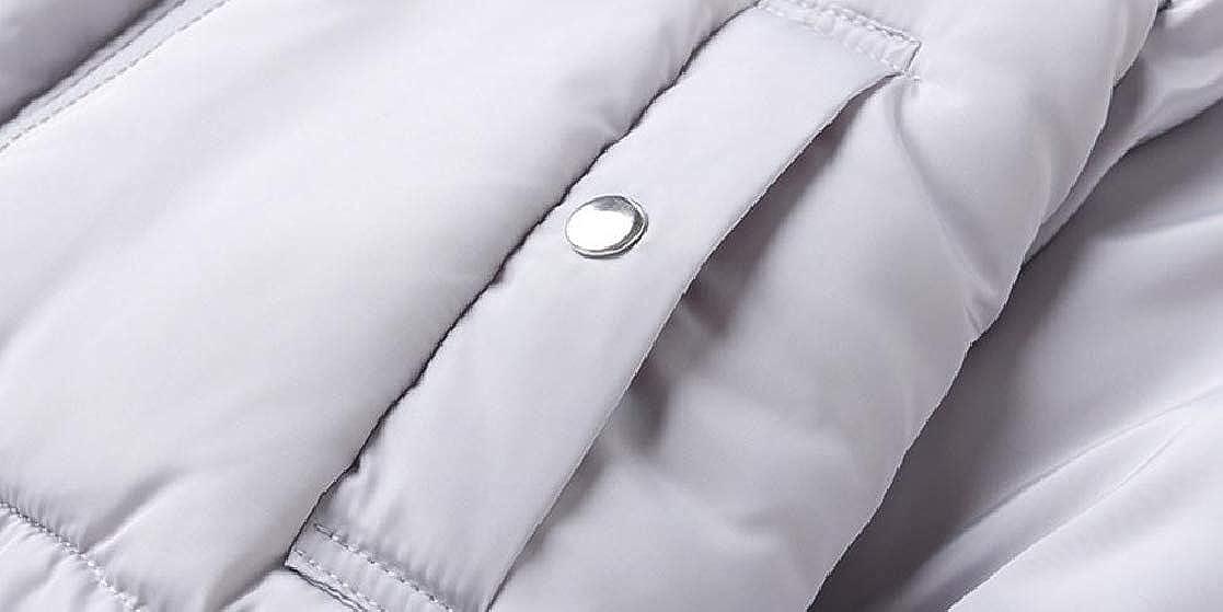 YUNY Men Thick Keep Warm Hood Puffer Full-Zip Trim-Fit Parka Jacket Coat Outwear Gray 2XL
