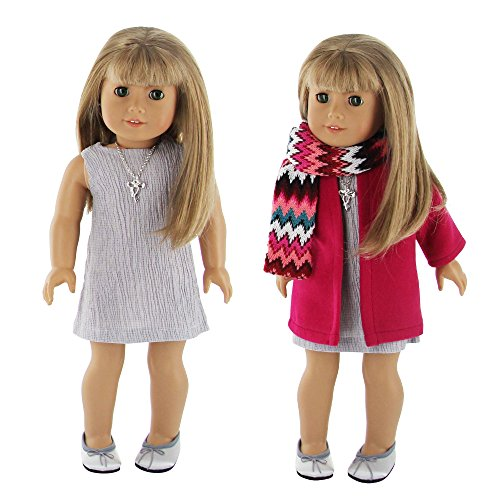PZAS Toys 18 Inch Doll Clothes - 5 Piece Winter Coat Set fits 18