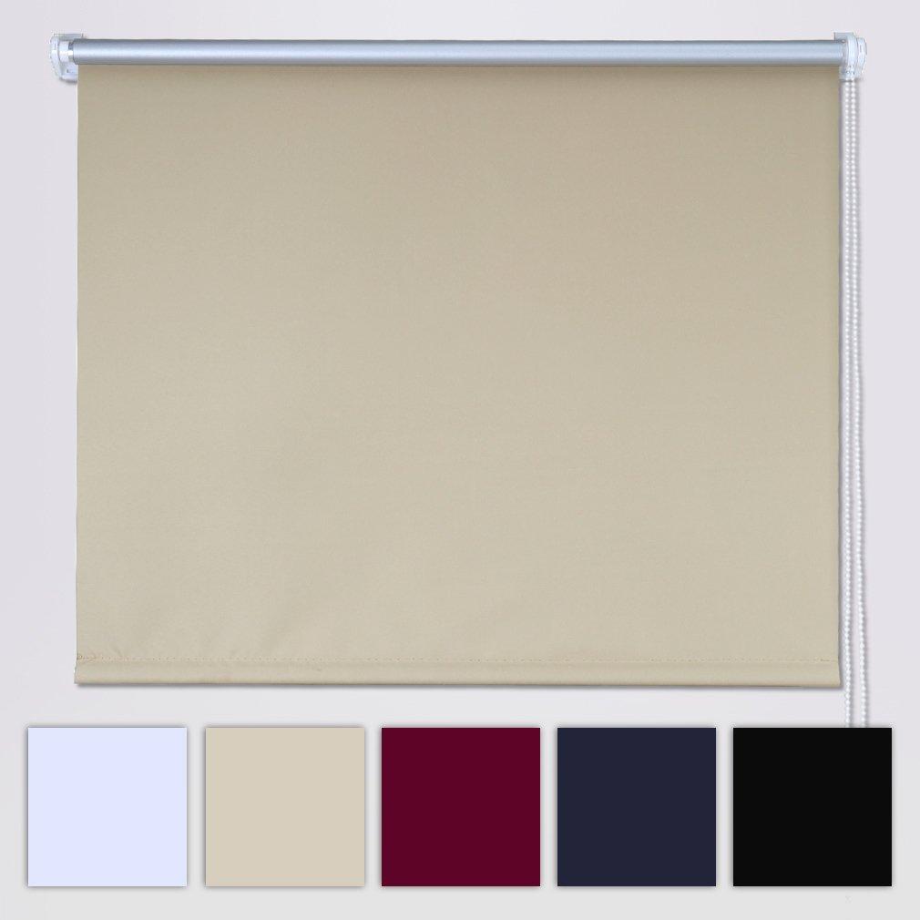 SHINY HOME Tenda a Rullo Avvolgibile Termica e Isolante Oscuranti per Finestre 80x175cm (Non serve il trapano)