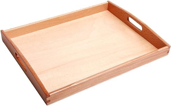 Juegos con Mango Cubos de Madera Bandeja Montessori Rectángulo Mediano Granos Guarda: Amazon.es: Juguetes y juegos