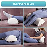Half Moon Bolster Semi-Roll Pillow - Ankle and Knee