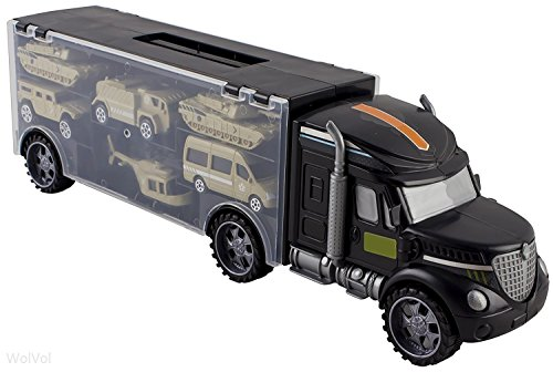 645422de576df WolVol Military Transport Car Carrier Truck Toy with Army Battle Cars    Choppers Toys Inside - Great Toy for Kids Who Love Action and Vehicles -  Buy Online ...