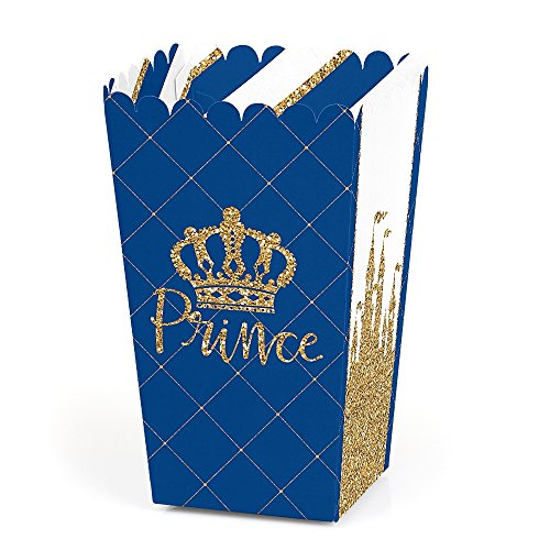 Royal Prince Charming - Baby Shower or Birthday Party Favor Popcorn Treat Boxes - Set of 12]()