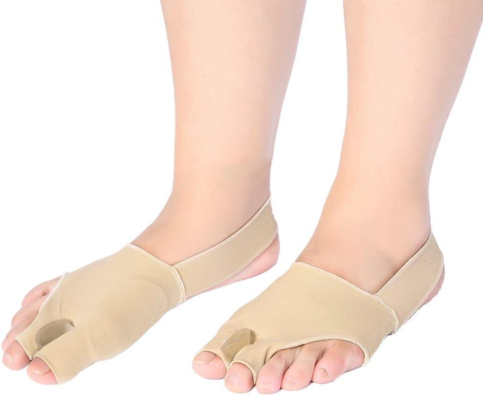 Hallux Valgus - Separador de dedos ortopédico (2 pares, muy suave, cómodo y de larga duración), guía de corrección ultrafina contra el dolor del dedo del martillo (S5-39))