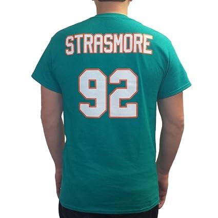 Spencer strasmore # 92 Miami Jersey Camiseta Ballers Rock delfines de fútbol, Verde, Adulto