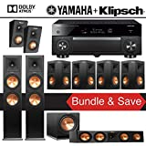 Klipsch RP-280F 7.1.2 Reference Premiere Dolby Atmos Home Theater System with Yamaha AVENTAGE RX-A1070BL 7.2-Channel Network AV Receiver