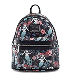 x Ariel Floral Print Faux Leather Mini Backpack