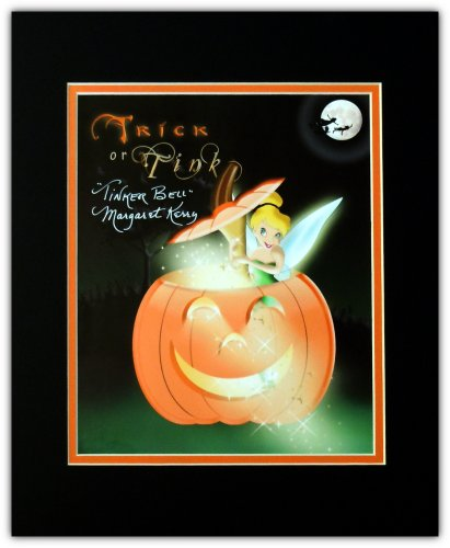 Disney Autographed Tinker Bell 8x10 Photo Halloween Trick or Tink Signed By Margaret Kerry Matted to 11x14 Size -