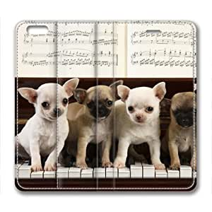Lovely Dog Animal Custom Leather Cover for iPhone 6 By Cases & Mousepads