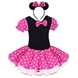 IBTOM CASTLE Toddler Girl Polka Dots Party Fancy Costume Tutu Dress up Dance Leotard Gymnastic Cosplay w/Mouse Ear Headband
