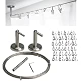 Exceptional Curtain Wire Rod Set Stainless Steel, Multi Purpose, 16.5u0027 Wire, 2