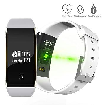 Pulsera de Actividad Inteligente, , Pulsera Inteligente con Monitor de Ritmo Cardíaco Calorías Sueño Impermeable IP67 Reloj Inteligente Mujer y Hombre ...