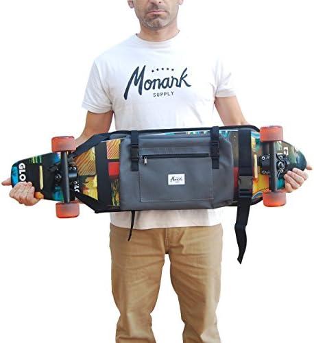 Sac à Dos pour Donner Le Longboard, Surf Skate ou Skateboard Complet, idée de Cadeau Saint Valentin. Couleur Gris