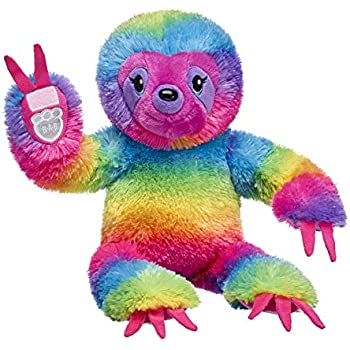 60d25873f0f Amazon.com  Build A Bear Workshop Rainbow Stripes Sloth Stuffed ...