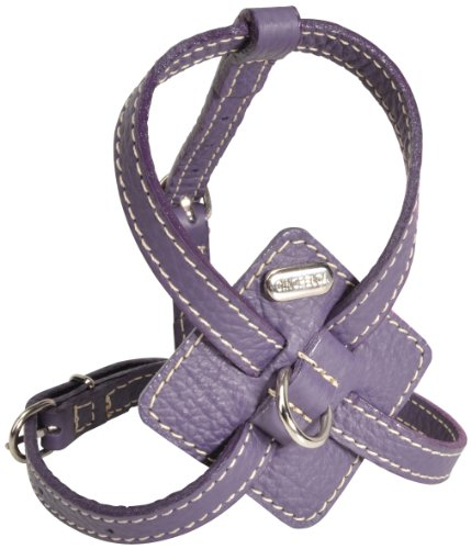 Petego La Cinopelca Adjustable Calfskin Harness, Purple, Medium