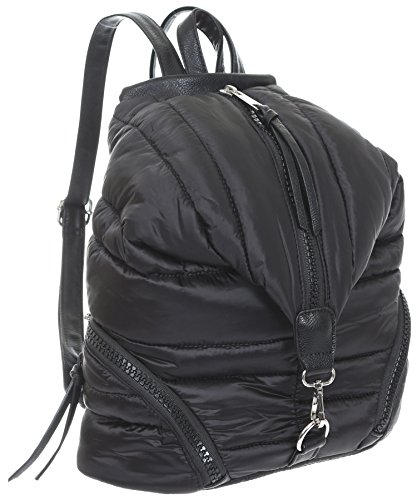 Sondra Roberts Ladies Handbags Quilted Parachute Nylon Backpack Black by Sondra Roberts