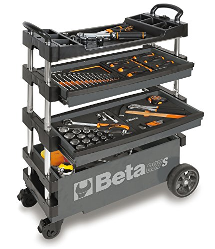 Tool Beta Box (BETA TOOLS C27S-G FOLDING TOOL TROLLEY FOR PORTABLE USE - GRAY)