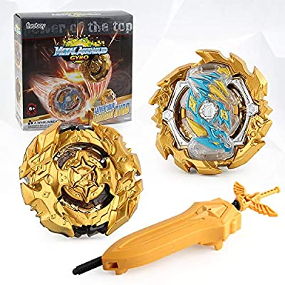 Bey Burst Evolution Starter Battling Top Fusion Metal Master Rapidity Fight with 4D Launcher Grip Set(2 in 1): Toys & Games