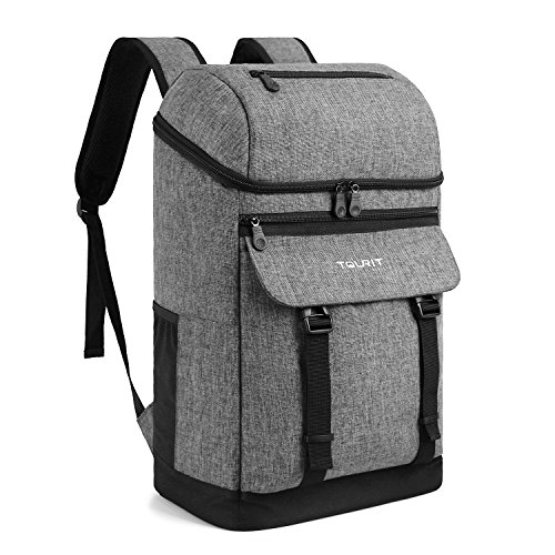 TOURIT Cooler Backpack Insulated Backpack Cooler Stylish Leak-Proof Lunch Backpack with Cooler Large Capacity for Men Women to Work, Picnics, Hiking, Camping, Beach, Park or Day Trip (Lightweight Picnic Backpack)