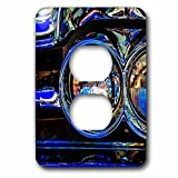 3dRose Alexis Photography - Transport Road - Headlights of a retro luxury car. Play of lights, shadows reflections - Light Switch Covers - 2 plug outlet cover (lsp_271954_6)