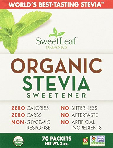 Price comparison product image Sweet Leaf Stevia Organic Sweet Leaf Stevia Packets - 70 ct,  2 oz