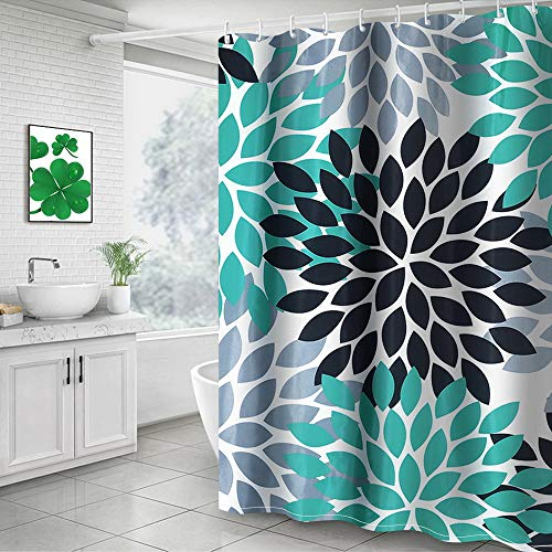 Buy turquoise shower curtain set