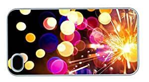 Hipster iPhone 4S case thinnest fireworks sparkler PC White for Apple iPhone 4/4S