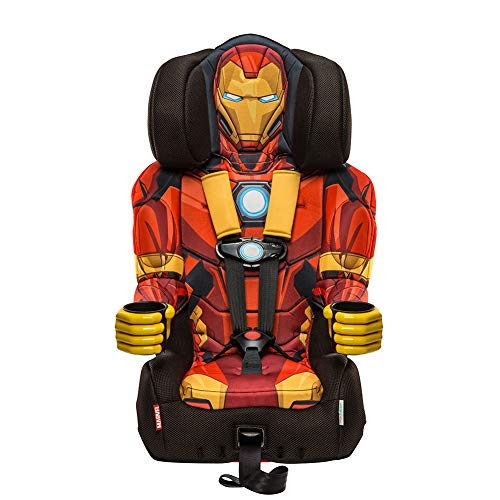 KidsEmbrace 2-in-1 Harness Booster Car Seat, Marvel Avengers Iron Man -