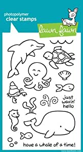 Lawn Fawn - Clear Acrylic Stamps - Critters in the Sea