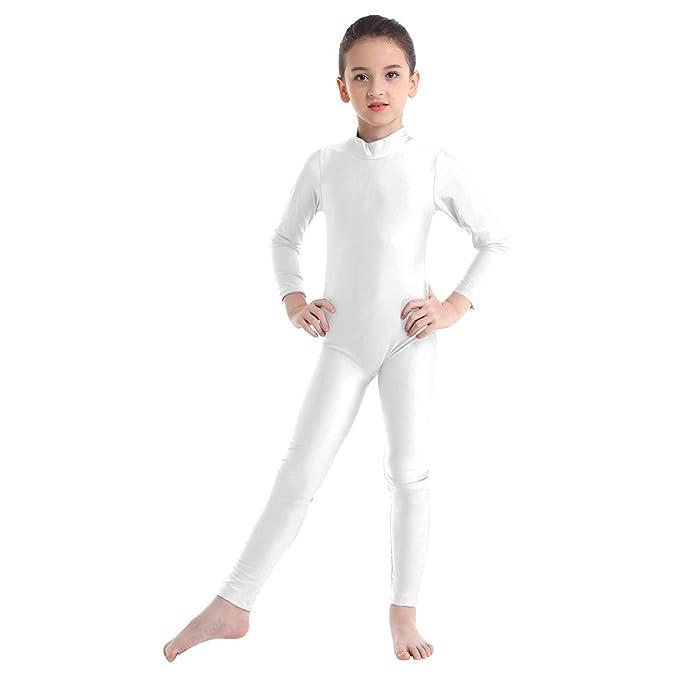 Agoky Maillot de Danza Ballet Manga Larga para Niña Chica Elástico Leotardo de Gimnasia Rítmica Patinaje Mono de Yoga Baile Práctica Traje Bialarina