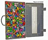 Ash Action Figures Case Organizer with Ebook Brand| Stop Looking! GET The Ultimate Beautiful Plastic Toy Box Storage Bin fits up to 144 Anime Figure-Toys NOT Included