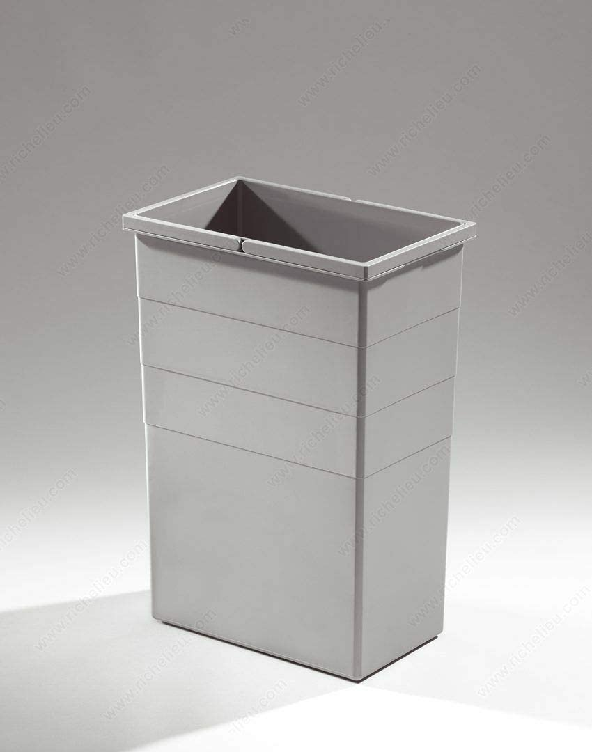 Two 2 Replacement Waste Bins for Euro Cargo Hailo Capacity 35 Liters Gray