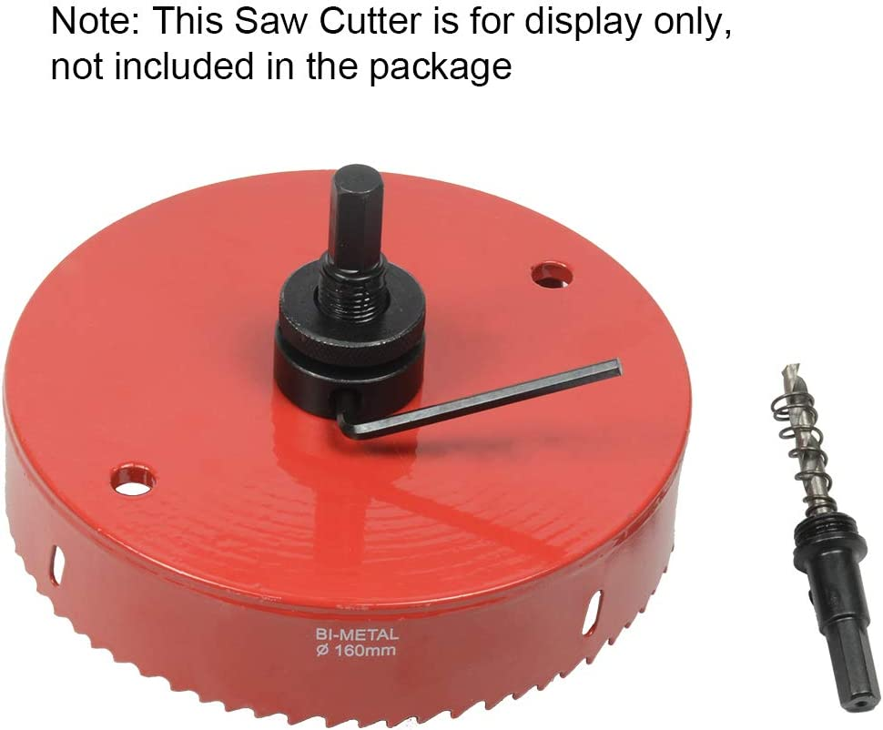 ASNOMY 5pcs Adaptador usillo para Coronas bimetalicas hexagonal y triangular v/ástago eje de sierra para sierra de agujero de 19mm a 200mm de di/ámetro mandril de sierra de agujero de cambio r/ápido