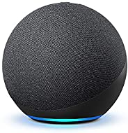 All-new Echo (4th Gen) | With premium sound, smart home hub, and Alexa | Charcoal