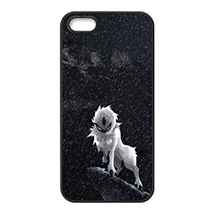 Wolf On Rock Falling Snow Black iPhone 5S Case