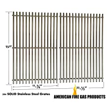 Stainless Steel Cooking Grates for Weber 2241001, 2241298, 2241398, 2241411, 2271001, 2271398, 2271411, 2271698, 2341001, 2341298, 2341398, 2341411, 2371001, 2371398, 4411001, Genesis Silver A, SKYLINE 520LP, Spirit 500 Set of 2
