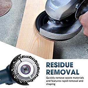 Wood Grinding Wheel 12 Teeth Wood Shaping Disc Angle Grinder Disc Grinder Chain Disc with Replacement Chain for Woodworking Sanding Carving Shaping Polishing Grinding Wheel Tool