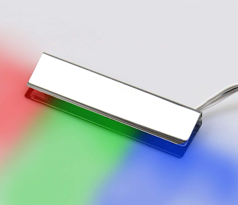 LED clip Vitrinenleuchten//Glaskantenbeleuchtung 6er Set Metall