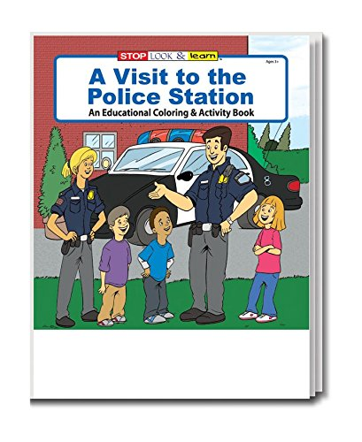 A Visit to The Police Station (25 Pack) Kid's Educational Coloring & Activity Books in Bulk