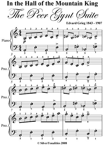 In the Hall of the Mountain King Grieg Easy Piano Sheet