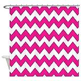 Hot Pink Chevron Shower Curtain CafePress Hot Pink Chevron Stripes Decorative Fabric Shower Curtain (69