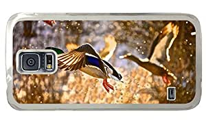 Hipster Samsung Galaxy S5 Cases for sale flying ducks PC Transparent for Samsung S5