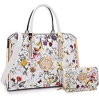 MMK Women handbags Top handle Satchel bags for Ladies Set Vegan Leather purse/wallet(2 pieces set)