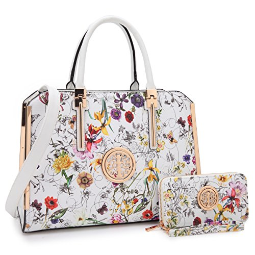 - Women's Fashion Shoulder Bag Structured Top Handle Satchel Work Handbag Briefcase W/Wallet