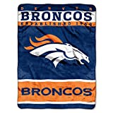 The Northwest Company Officially Licensed NFL Denver Broncos 12th Man Plush Raschel Throw Blanket, 60