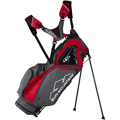Sun Mountain Golf 2018 4.5 LS Stand Bag IRON-RED (Iron/Red)