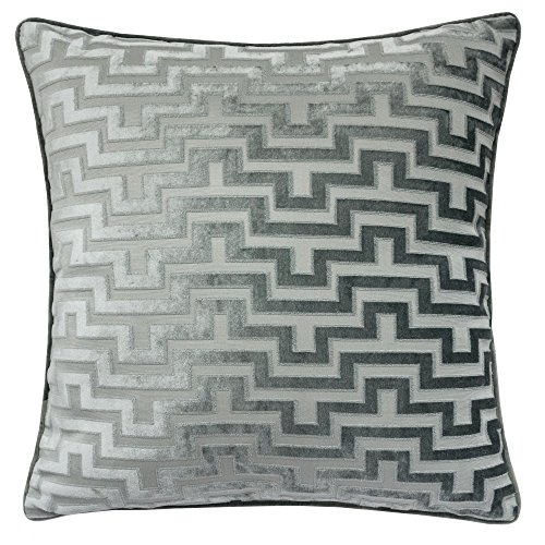 - Homey Cozy Modern Velvet Maze Throw Pillow Cover,Slate Green Luxury Soft Fuzzy Cozy Warm Slik Decorative Square Couch Cushion Pillow Case 20 x 20 Inch, Cover Only
