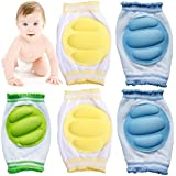 Kid Essentials® 3 pairs Breathable Adjustable Elastic Unisex Infant Toddler Baby Kneepads Knee Elbow Arm Pads Crawling Safety Protector,For 9 months to 24 months Baby Indoor Outdoor Use